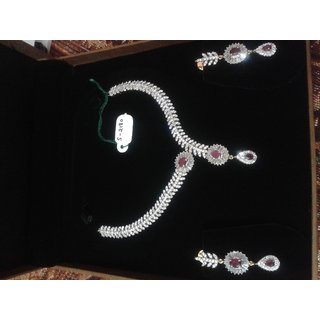 f645032c0ad American Diamond With CZ Necklace Set Prices in India- Shopclues- Online  Shopping Store