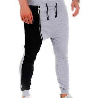 Track pants in zipper style