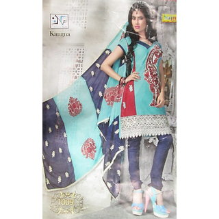 Cotton Embroided Heavy Work Dupatta Suit In Pure Cotton