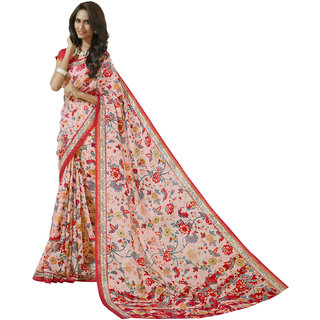 Sanwara Multicolor Art Silk Printed Saree With Blouse