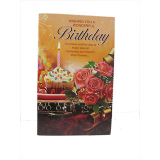 3-D Happy Birthday Greeting Card