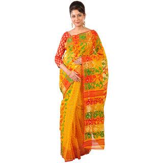 Ruprekha Fashion Cotton Silk Dhakai Jamdani Saree