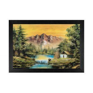 MDF , Natural scene, Black framed painting