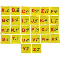 GSI 26 Alphabets Toss Bean Bags For Primary Education And Activity Games