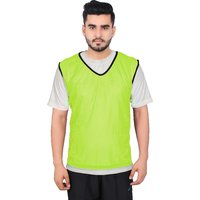 GSI Pack of 12 Yellow Sports Bibs Pinnies Scrimmage vest for Soccer Cricket Track and Field Sport Teams
