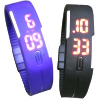 Super Saver Combo Pack Of Two Digital Watches Blue And