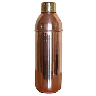 Tera India Stylish Designed Copper Water Bottle ( Brown )