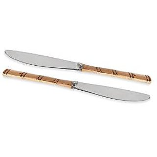 Prisha India Best Quality Set Of 2 Indian Handmade Copper Handle Knife Gift Set