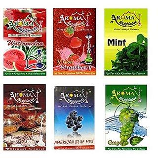 Desi Karigar Aroma Happiness Assorted Hookah Flavor - Pack of 6