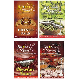 Desi Karigar Aroma Happiness Assorted Hookah Flavor - Pack of 4