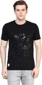 Ziera Black Round T-Shirt For Men