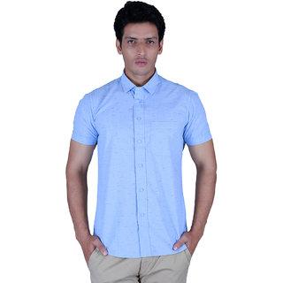 Integriti Half Sleeve Printed Blue Men's Shirts