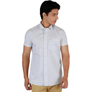 Integriti Half Sleeve Checkered White Men's Shirts