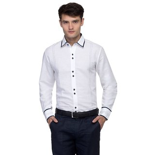Toxic River White Party Wear  Shirts-1018
