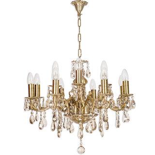 Fos Lighting Candle Lamp 12 light honey crystal chandelier