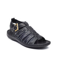 Tanny Shoes Black Colour Men Classie Leather Sandal