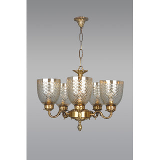 Fos lighting brass vine chandelier with diamond cut lustrous glass fos lighting brass vine chandelier with diamond cut lustrous glass aloadofball Image collections