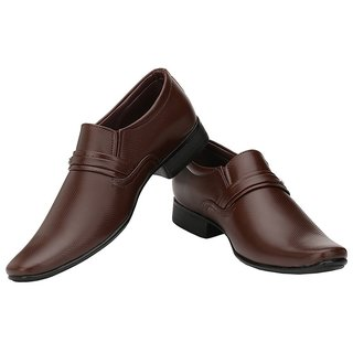 Ziyy Brown Men Formal Shoes ZLS484
