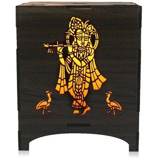 Saibhir Devoational Wooden Brown Kanhaiya Lamp