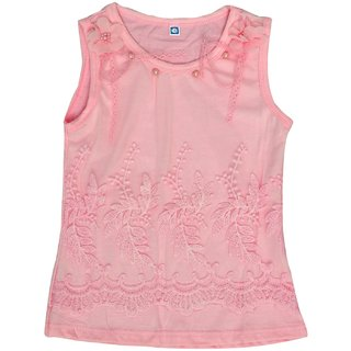 Titrit Pink Party Wear Sleeveless Top