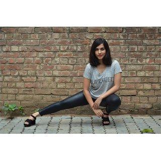 Black  White striped t-shirt with Supercity embellishment
