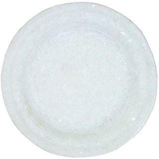 Handmade White Marble Plate For Durga Pooja