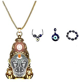 only4you Sri Hanuman Chalisa Yantra, Hanuman Kawach With Gold Plated Chain  Nazar Suraksha Yantra - FREE