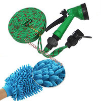 10 Meter Flat Hose Water Gun Spray Garden Pet Car Washi
