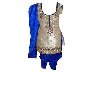 Girl's Self Design Cotton Ethnic