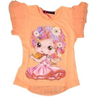 Titrit Peach Partywear Top