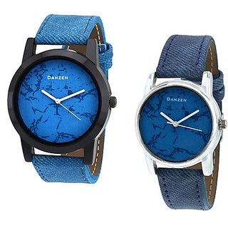 Danzen Blue Quartz Couple Watches