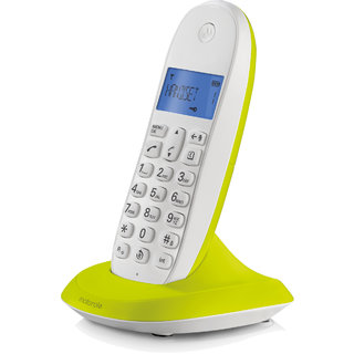 50c835525bc Buy MOTOROLA CORDLESS LANDLINE PHONE C1001LBI Lime Lemon Online - Get 0% Off