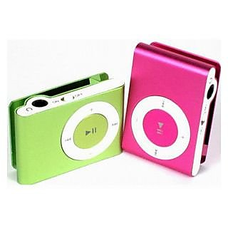 Ptc Mart New mini Clip-on mp3 Player with Card Slot+USB Cable+Earphone