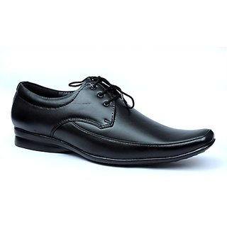 Ideal Black Office Genuine Leather Formal Shoe