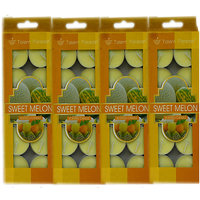 Branded Scented Sweet Melon Tea Light Candles Pack Of 4