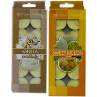 Branded Scented Vanlila N Sweet Melon Tea Light Candles