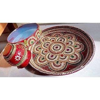Decorative, Simple, Attractive Pooja Thali