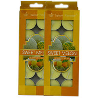 Branded Scented Sweet Melon Tea Light Candles Pack Of 2