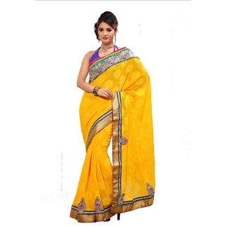 Monalisa Indain Designer Green Bhagalpuri Chex Embroidered Saree