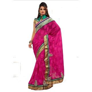 Monalisa Designer Blue Bhagalpuri Chex Embroidered Saree