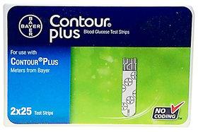 50 Test Strips for Contour Plus Glucometer