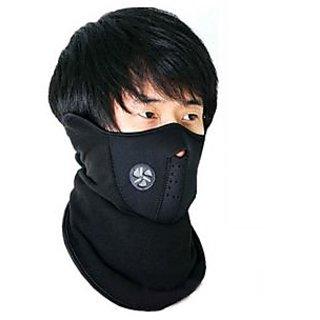 Spartan Neoprene Mask - Anti Pollution Bike Face Mask/Neck Warmer - Black