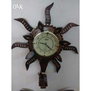 handicrafts wooden wall clock