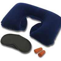 Highlight Multicolor 3 In 1 Travel Kit Air Neck Pillow/ Coushion Eye Mask /Ear Plugs
