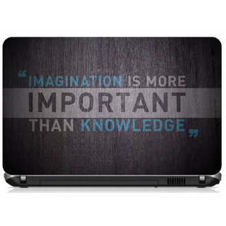 Imagination Quote Laptop skin for 15.6 inches laptop ( Buy 1 Get 1 Free)