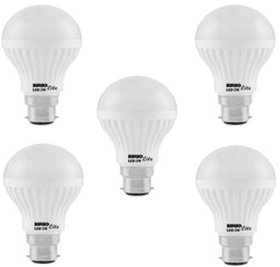 BRIO LITE B22 5 W LED BULB ( PACK OF 5 PCS WHITE )