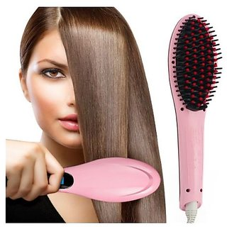Fast Hair Straightening Brush - Magic Hair Straightening in just 5 seconds (pink)(free 1 hands free)