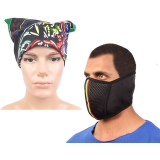 Sushito Out Door Fancy Face Mask Combo Headwrap For Men JSMFHFM0745-JSMFHHR0184
