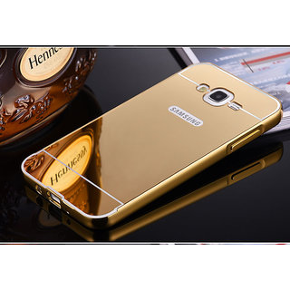 HI5OUTLET Premium Quality Mirror Back Cover For Samsung Galaxy J2 2016 - GOLDEN