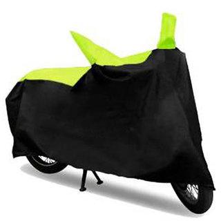 Ak Kart Black And Green Two Wheeler Cover For Suzuki Gixxer